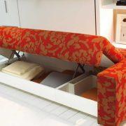 letto a scomparsa atoll 000 con divano contenitore