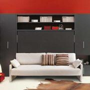 letto a scomparsa circe sofa con divano da 216 cm