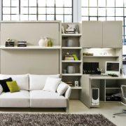 letto a scomparsa nuovoliola con divano e contenitore