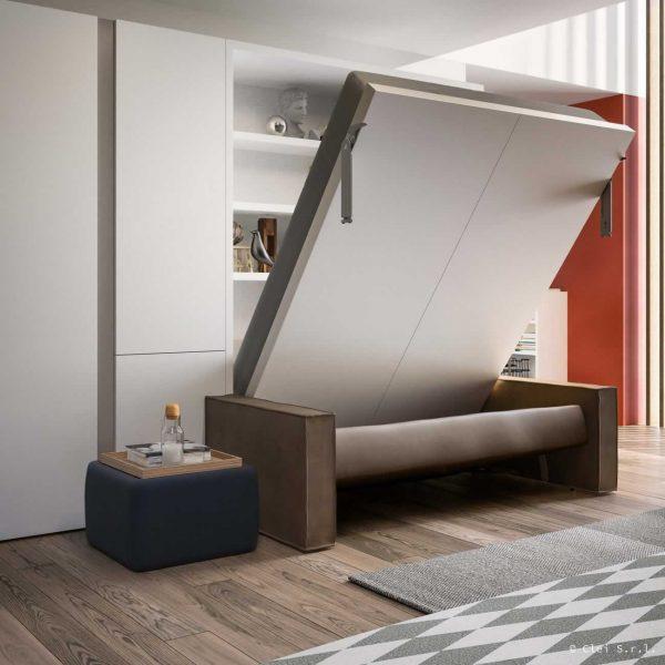 letto a scomparsa penelope 2 sofa matrimoniale con divano incorporato